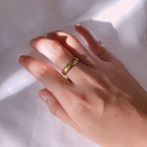 Thick 4mm Gold Filled Band Ring