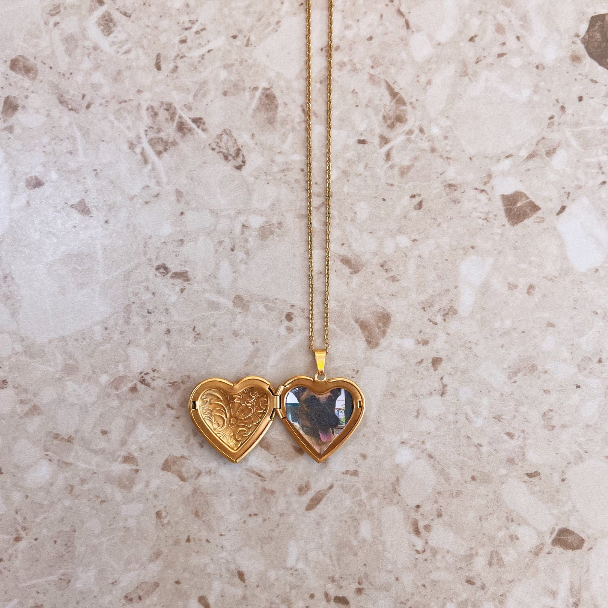 Floral Heart Love Locket + FREE photo print out