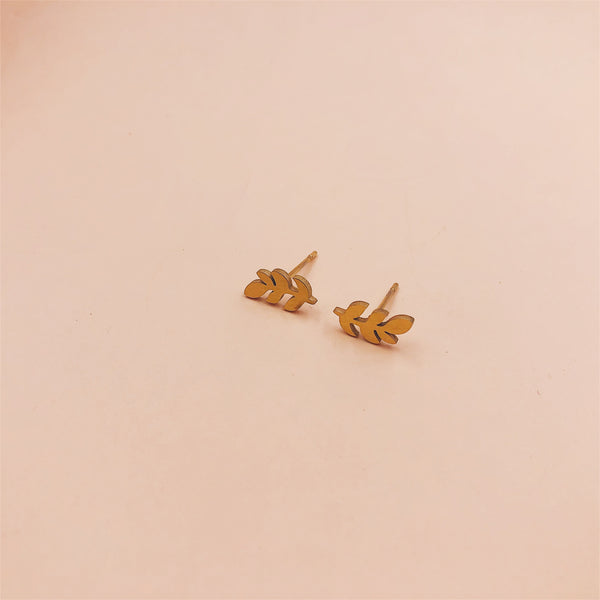 Grow Leaf Stud Earrings
