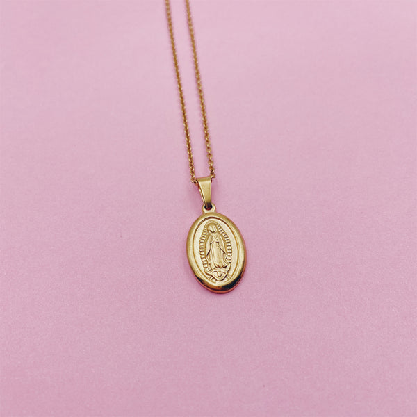 Oval Guadalupe Medallion Necklace