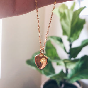 Monogram Heart Gold Filled Necklace