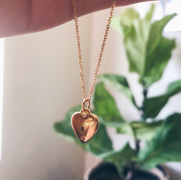 Monogram Heart Gold Filled Necklace 2