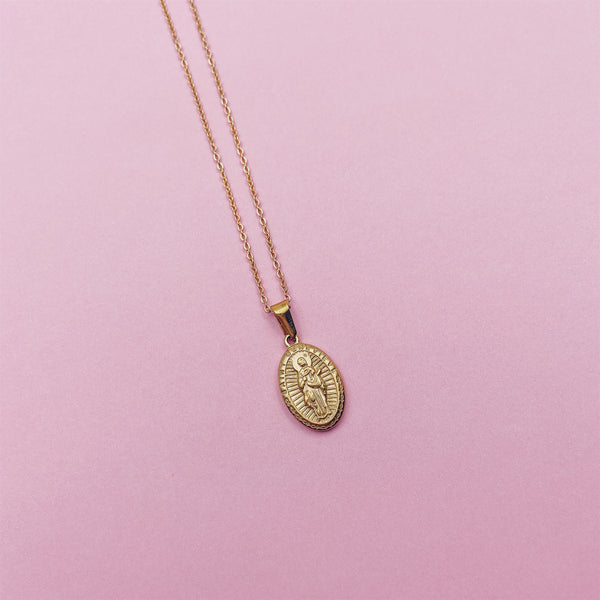 St. Genevive Medallion Necklace