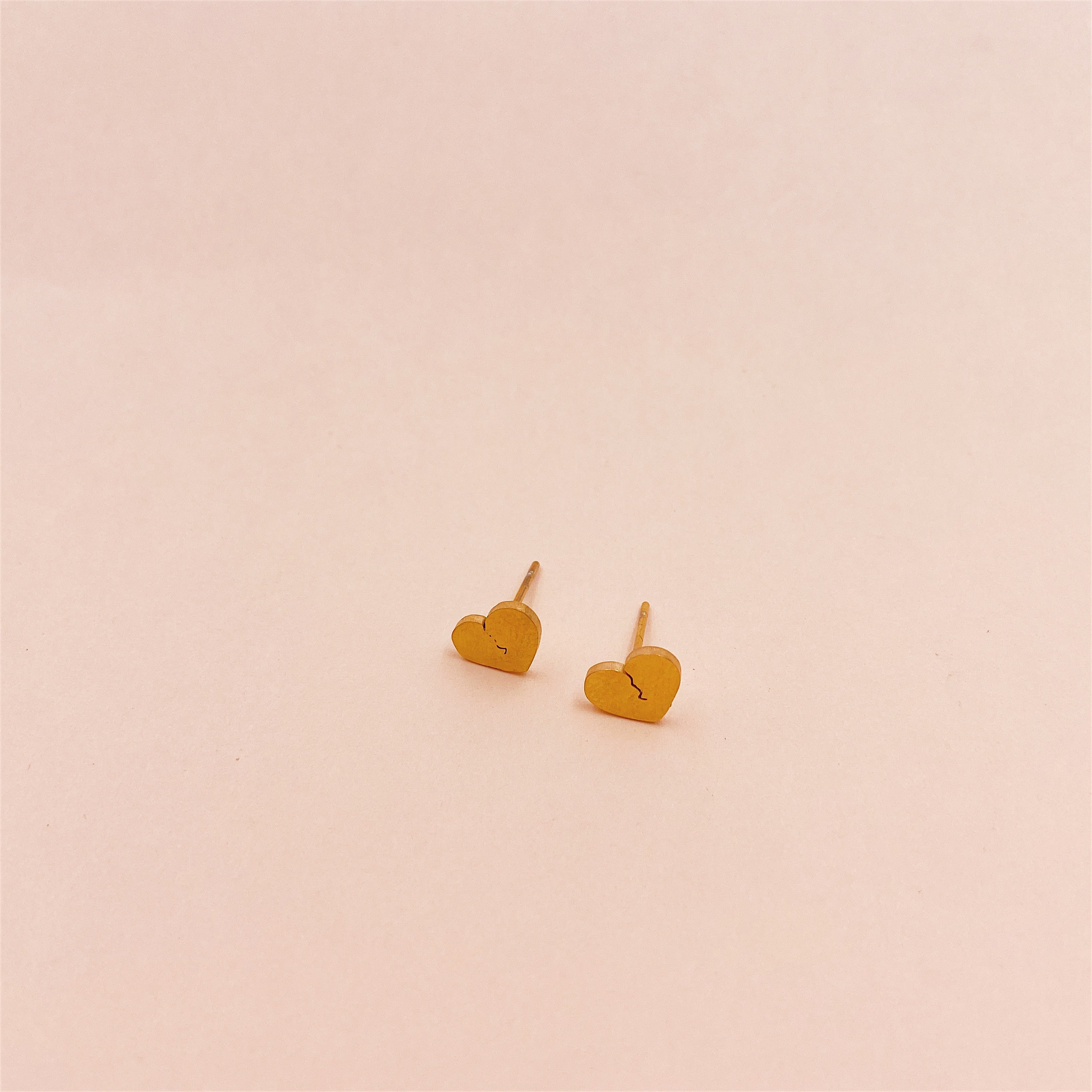 Broken Heart Stud Earrings