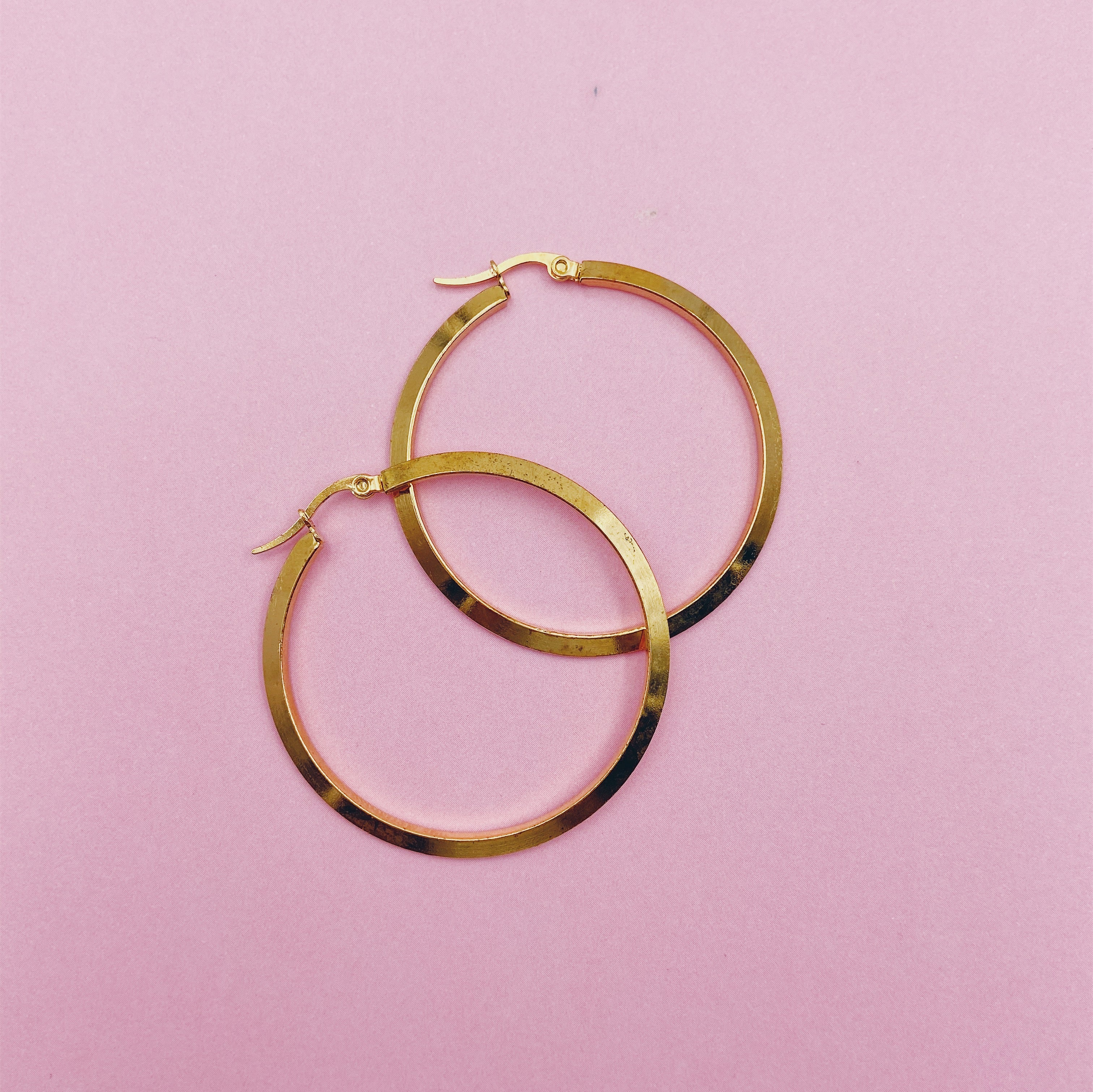 Maxi Thick Circle Hoop Earrings
