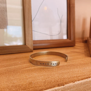 Custom Regular Side Stamped Brass Bangle (8 characters)
