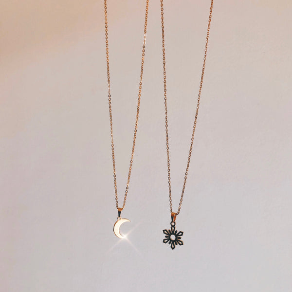 Sun child and Moon child Necklace