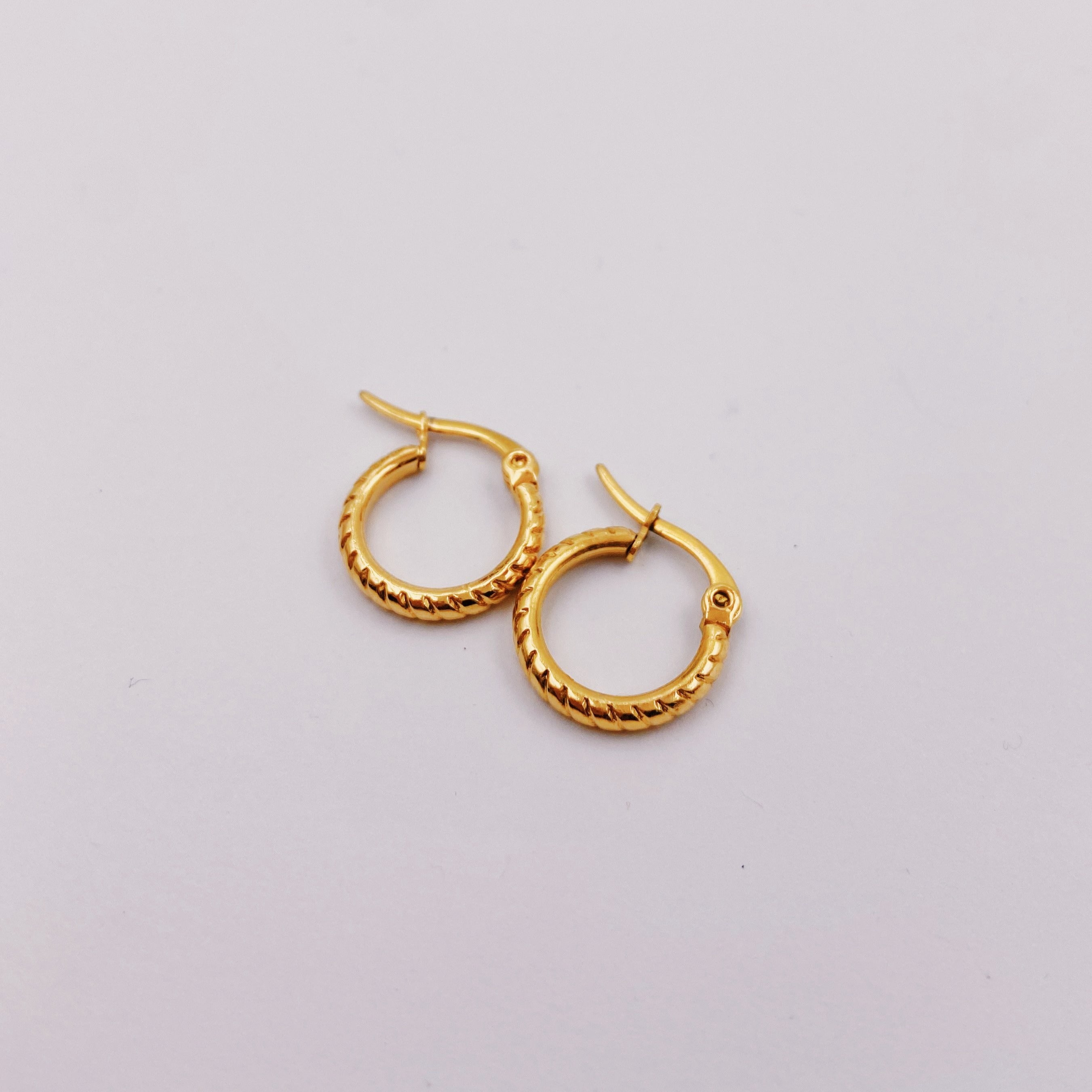 Mini Rope Circle Hoop Earrings
