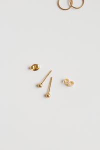 Tiny Ball Stud Earrings