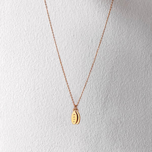 Custom Oval Gold Filled Necklace (4 characters)