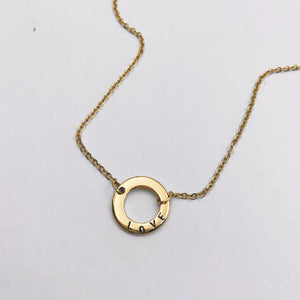 """LOVE"" Ring Gold Filled Necklace - 30% OFF"
