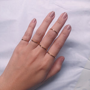 Skinny 1mm Gold Filled Band Ring