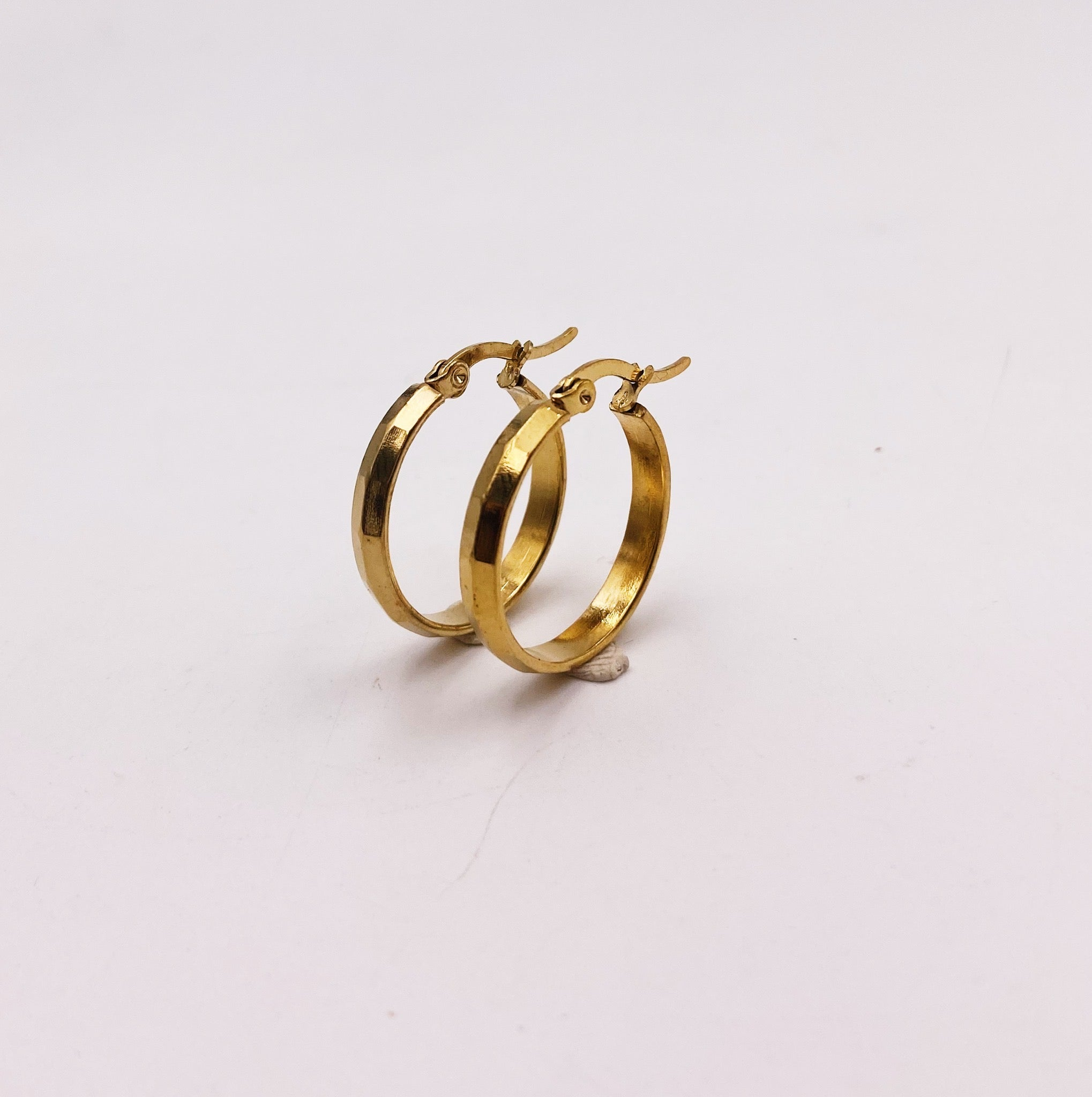 Midi Segmented Circle Hoop Earrings
