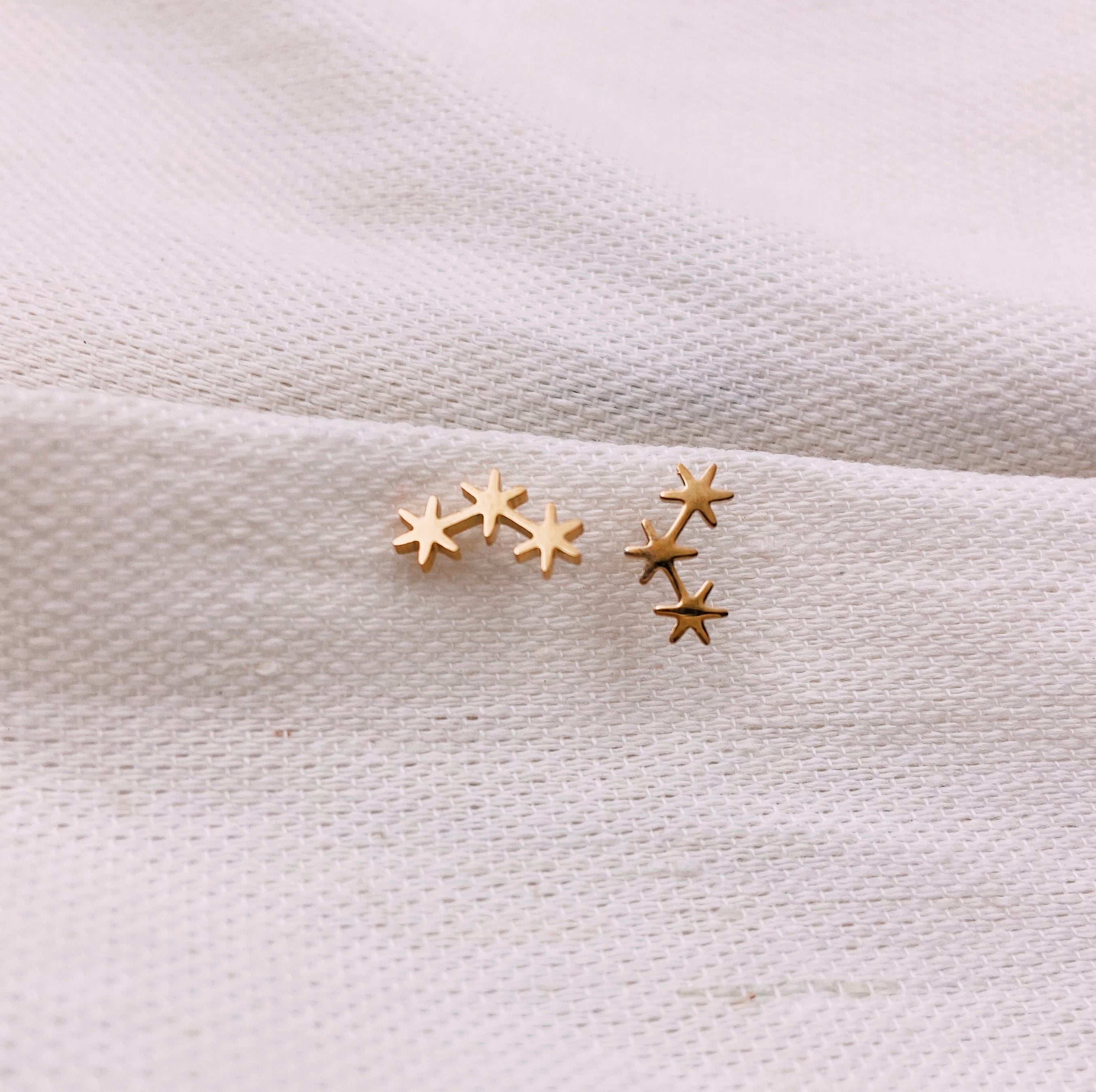 Asterisk Cluster Stud Earrings