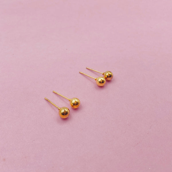 4mm Ball Stud Earrings