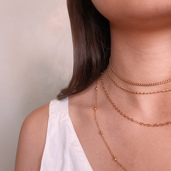 Box Chain Gold Filled Choker