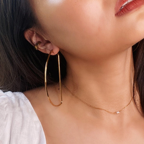 Maxi D-Hoop Earrings