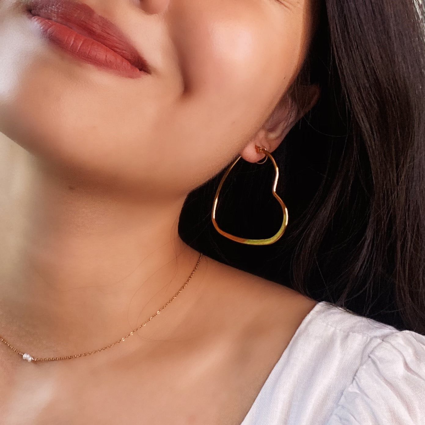 Maxi Heart Hoop Earrings