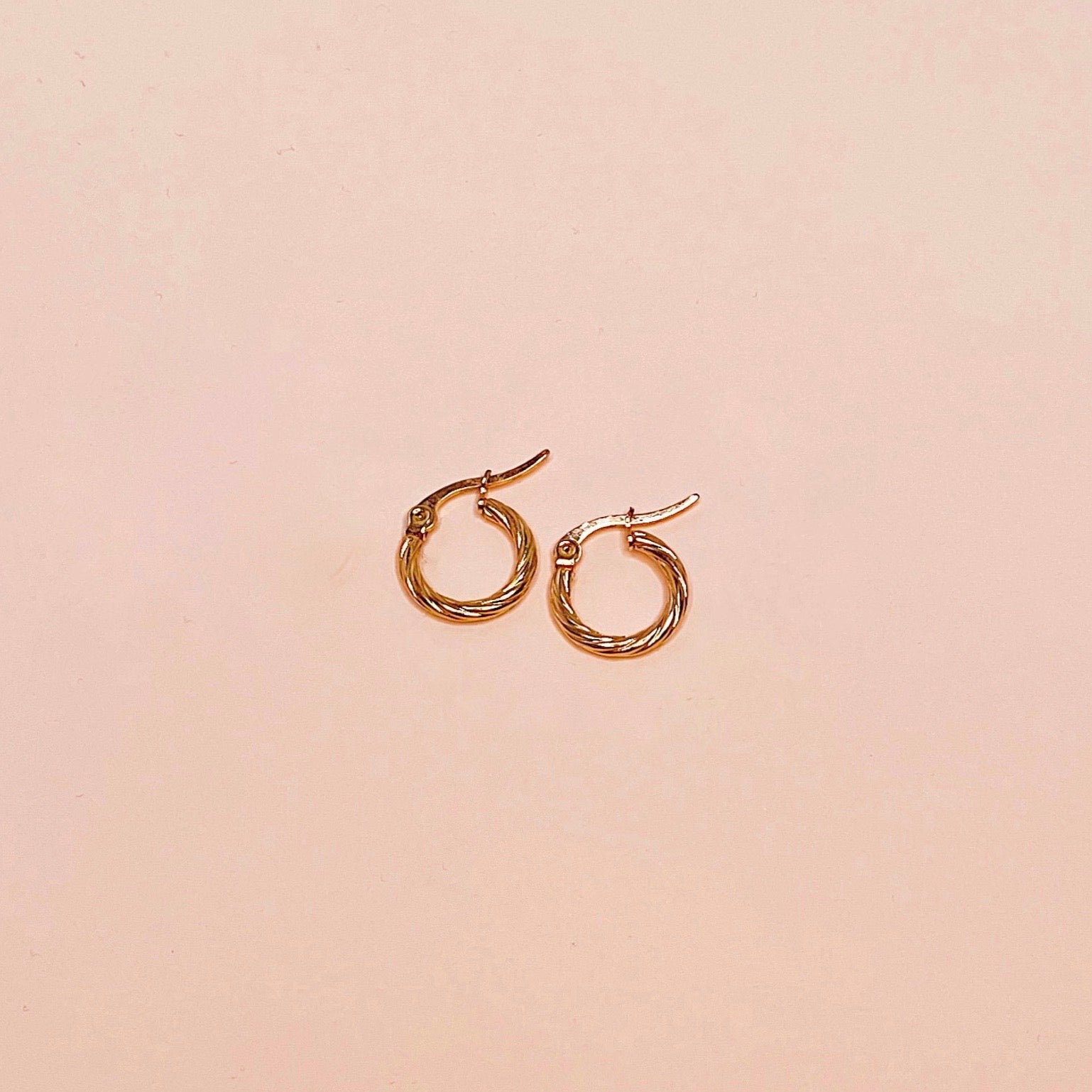 Mini Textured Circle Hoop Earrings