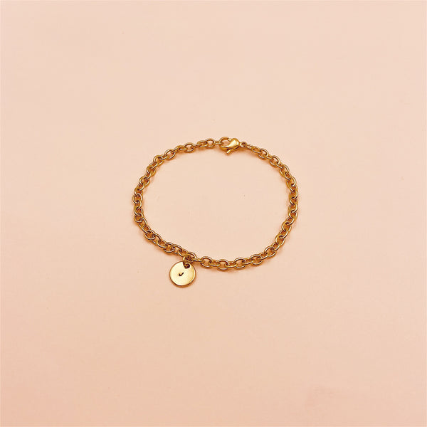 Mini Monogram Chain Bracelet