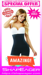 WH-SKU:8063 Short Bodysuit Strapless Open-Bust Body Shaper Faja Buttocks enhancer