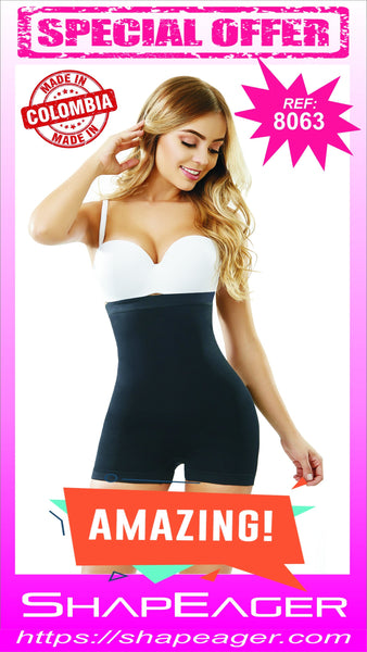 STR-SKU:8063 Short Bodysuit Strapless Open-Bust Body Shaper Faja Buttocks enhancer