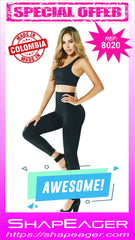 WH-SKU:8020 Women Shapewear LEGGINGS Capri style Tammy, Waist, and Thigs Slimmer