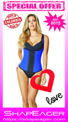 WH-SKU:8015 Waist Cincher Corset 3-POS HOOKS, THERMAL, WAIST MOLDING, BACK and ABDOMINAL SUPPORT