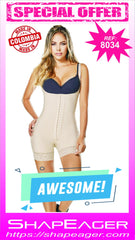 WH-SKU:8034 Shapewear made with high compression fabric. Burn fat and water for fast weight loss. Post surgery/partum.