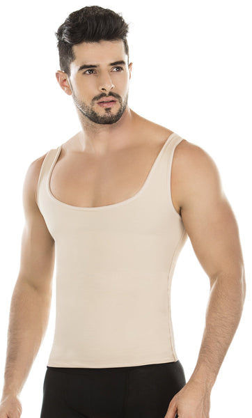 SKU:8135 ShapEager Vest High Abdomen Compression Shirt Men Body Shaper Colombian Faja