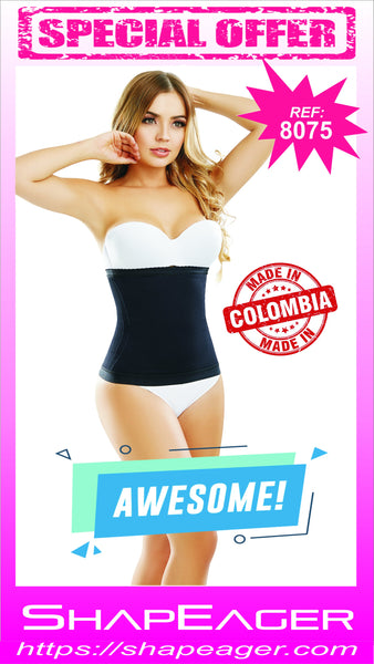 STR-SKU:8075 Body Shaper Waist Cincher with side-flexible boning tabletop flat stomach Faja