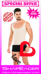 STR-SKU:8098 Men's Tank Top Zipper low back Disc Posture Corrector