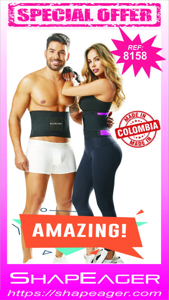 WH-SKU:8158 Fort-line Aerobics Waist Cincher Trainer Body Girdle Gym Workout Sport Shaper
