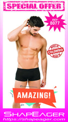 STR-SKU:8077 Men's Boxer Body Shaper Butt Lifter Fajas Levanta Cola Push Up Short
