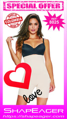 STR-SKU:8025 ShapEager Women Invisible Shaper Thermal Boxer Shapewear. Controls from tammy to upper thig