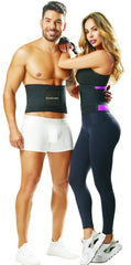 STR-SKU:8158 Fort-line Aerobics Waist Cincher Trainer Body Girdle Gym Workout Sport Shaper