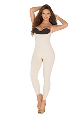 SKU:8086 Full Body Shaper Open-Bust Capri