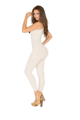 WH-SKU:8086 Full Body Shaper Open-Bust Capri