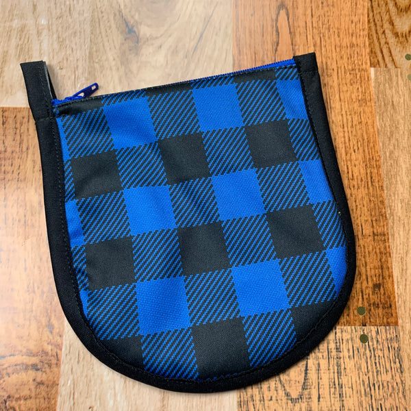 Tiny Pouch - Blue Buffalo Plaid