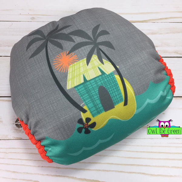 Beach Hut Cloth Diaper - MADE TO ORDER - Owl Be Green