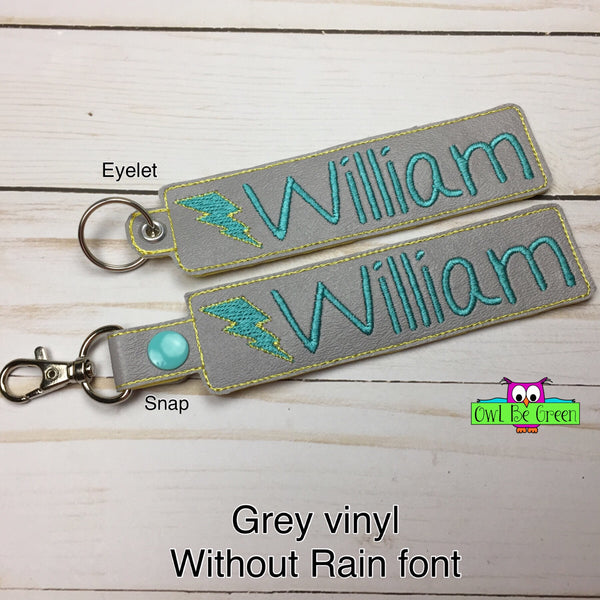 Customized Name Tag Key Fob - Owl Be Green