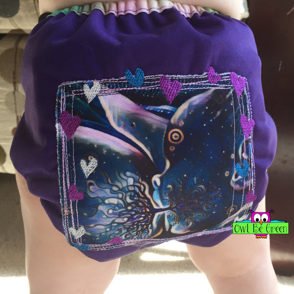 Tree of Life Custom Photo Cloth Diaper - Choose AI2 Cover or Pocket - MADE TO ORDER