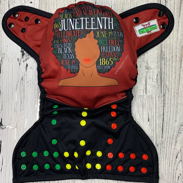Juneteenth Charity Support Cloth Diaper Cover