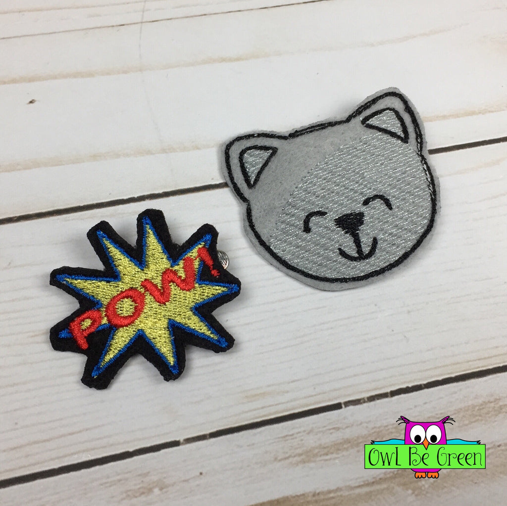 Super Catties Hairclips - Owl Be Green