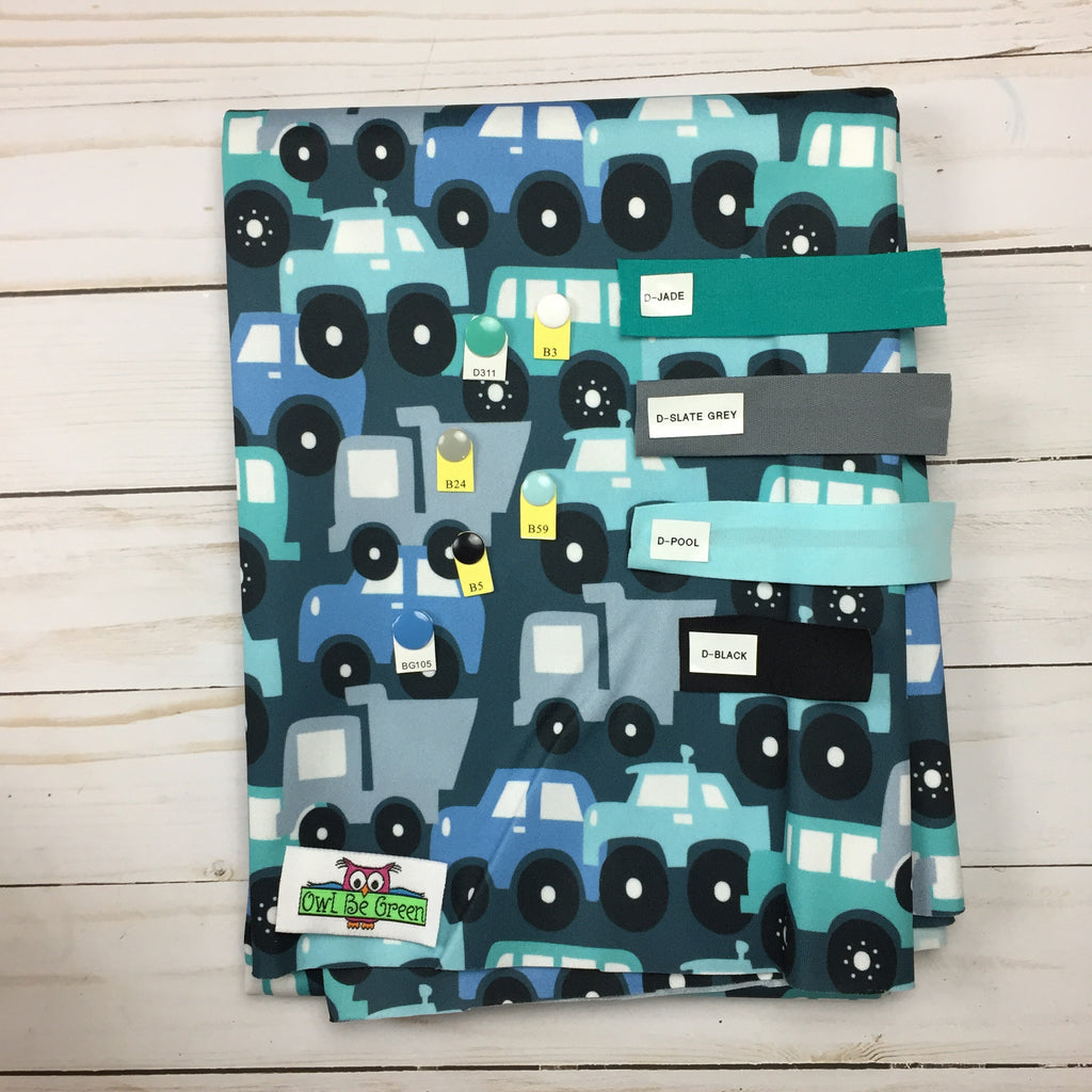 Traffic Jam Cloth Diaper - MADE TO ORDER - Owl Be Green