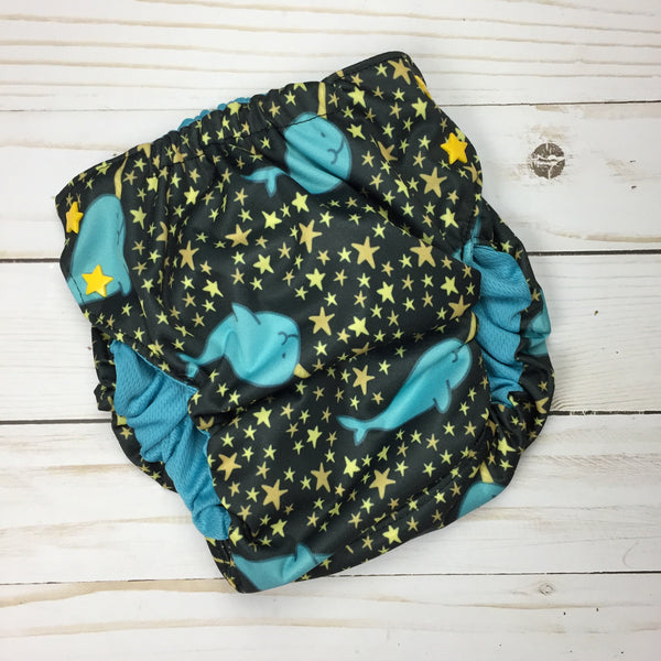 Large Swim Diaper 27-35lbs - Owl Be Green