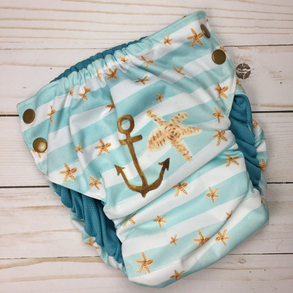 XLarge Swim Diaper 35-42lbs - Owl Be Green