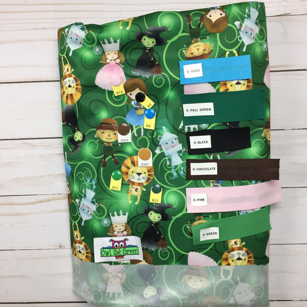 Emerald City Cloth Diaper - MADE TO ORDER - Owl Be Green