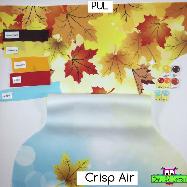 Crisp Air OS Cloth Diaper - Choose AI2 Cover or Pocket - MADE TO ORDER - Owl Be Green