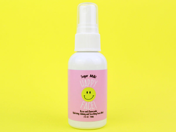 Happy Face Rose and Chamomile Face Mist - Sugar Milk Co.